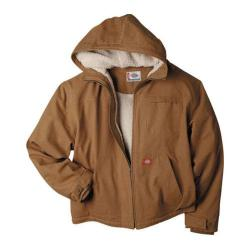 Men's Dickies Sanded Duck Sherpa Lined Hooded Jacket Brown Duck