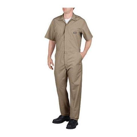 Men's Dickies Short Sleeve Coverall Khaki