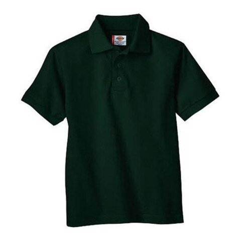 Men's Dickies Short Sleeve Pique Polo Hunter Green