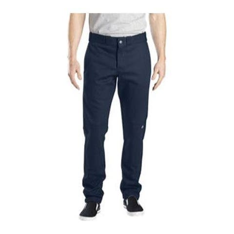 Men's Dickies Skinny Straight Fit Double Knee Work Pant 30in Inse Dark Navy