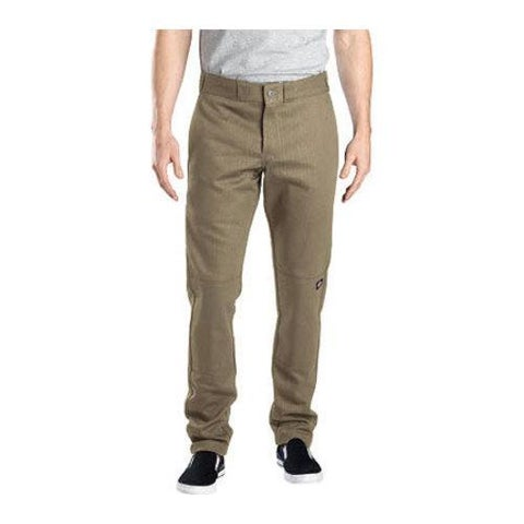 Men's Dickies Skinny Straight Fit Double Knee Work Pant 30in Inse Desert Sand
