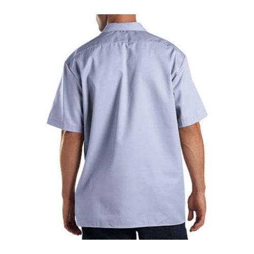 men 39 s dickies short sleeve work shirt light blue free. Black Bedroom Furniture Sets. Home Design Ideas