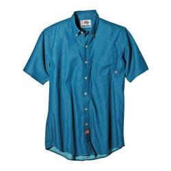 Men's Dickies Short Sleeve Denim Short Shirt Navy Combo