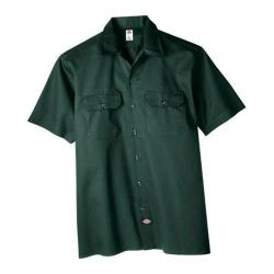 Men's Dickies Short Sleeve Work Shirt Hunter Green|https://ak1.ostkcdn.com/images/products/86/181/P16882077.jpg?impolicy=medium