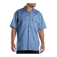 Men's Dickies Short Sleeve Work Shirt Medium Blue