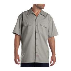 Men's Dickies Short Sleeve Work Shirt Silver Grey