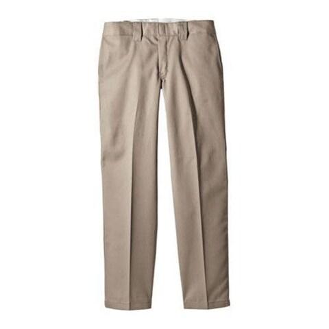 Men's Dickies Slim Straight Fit Work Pant 30in Inseam Khaki