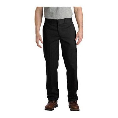 Men's Dickies Slim Straight Fit Work Pant 32in Inseam Black