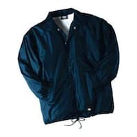 Men's Dickies Snap Front Nylon Jacket Dark Navy