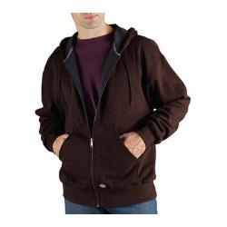 Men's Dickies Thermal Lined Fleece Jacket Tall Dark Brown