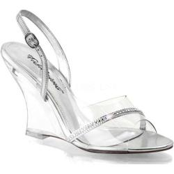 Women's Fabulicious Lovely 456 Clear/Silver Metallic PU/Clear