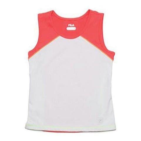 Girls' Fila Baseline Tank TG141DP4 White/Diva Pink/Safety Yellow