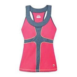 Women's Fila Baseline Halter Top Diva Pink/Deep Heater Grey/Safety Yellow