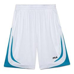 Boys' Fila Baseline Short White/Atomic Blue/Black