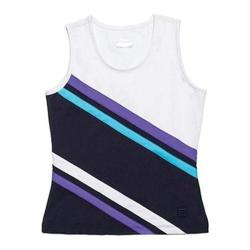 Girls' Fila Center Court Tank Peacoat/White/Simply Purple
