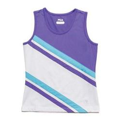 Girls' Fila Center Court Tank White/Simply Purple/Blue Atoll