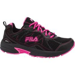 Women's Fila Overstitch 8 Black/Sugar Plum/Pink Glo
