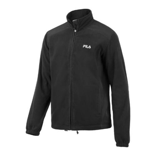 Men's Fila Record Arctic Fleece Solid Jacket Black/White - Free ...