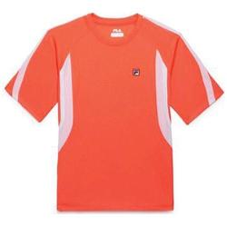 Boys' Fila Slam Crew Fiery Coral/White