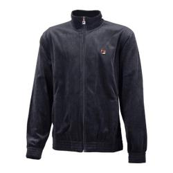 Men's Fila Solid Velour Jacket Ebony