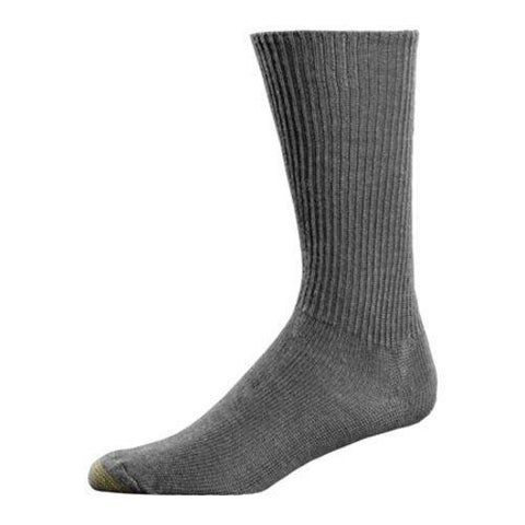 Men's Gold Toe Fluffies 520S (12 Pairs) Charcoal Grey