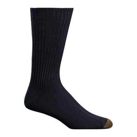 Men's Gold Toe Cotton Fluffies 565S (6 Pairs) Navy