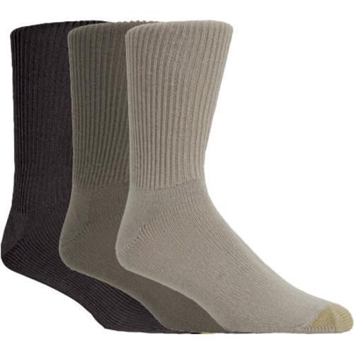 Men's Gold Toe Fluffies (12 Pairs) Multi Pack (Brown/Taupe/Tan)