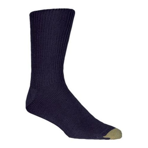 Men's Gold Toe Fluffies Extended 523E (12 Pairs) Navy