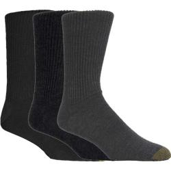 Men's Gold Toe Fluffies (12 Pairs) Multi Pack (Grey/Charcoal/Black)