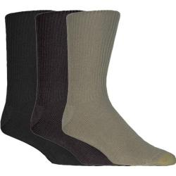 Men's Gold Toe Fluffies Extended 523E (12 Pairs) Multi Pack (Khaki/Brown/Black)
