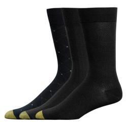 Men's Black Gold Toe Rayon from Bamboo Fashion Pack 2055S (12 Pairs)