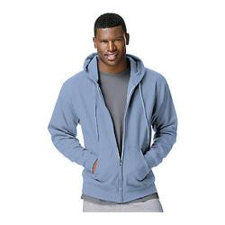 Mens Hanes Comfortblend Full-Zip Hood 7.8 oz (Set of 2) Light Blue