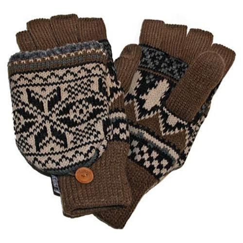 Men's MUK LUKS Traditional Nordic Flip Glove Neutral (US Men's One Size (Hand 6-11))