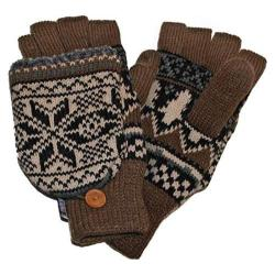 Men's MUK LUKS Traditional Nordic Flip Glove Neutral