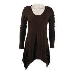 Women's Ojai Clothing Asymmetrical Top Chocolate
