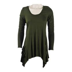 Women's Ojai Clothing Asymmetrical Top Hunter Green