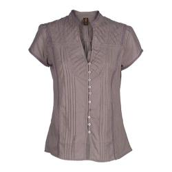 Women's Ojai Clothing Breezy Button Down Opal Grey