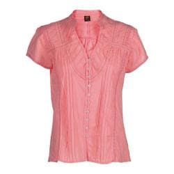 Women's Ojai Clothing Breezy Button Down Peach Tea