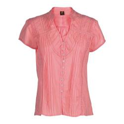 Women's Ojai Clothing Breezy Button Down Peach Tea