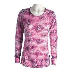 Women's Ojai Clothing Burnout Crewneck Boysenberry Cloudwash