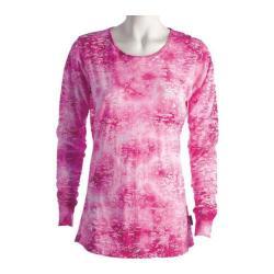 Women's Ojai Clothing Burnout Crewneck Beetroot Cloudwash