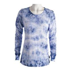 Women's Ojai Clothing Burnout Crewneck Dutch Blue Cloudwash