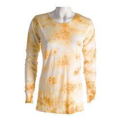 Women's Ojai Clothing Burnout Crewneck Goldenrod Cloudwash