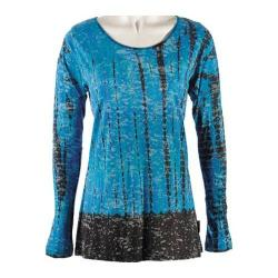Women's Ojai Clothing Burnout Crewneck 2 Teal/Chocolate