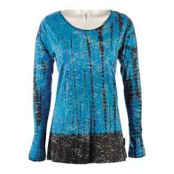 Women's Ojai Clothing Burnout Crewneck 2 Teal/Chocolate