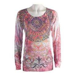 Women's Ojai Clothing Burnout L/S Crewneck Fortune Wheel