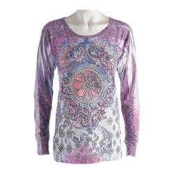 Women's Ojai Clothing Burnout L/S Crewneck Freedom