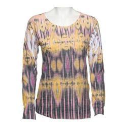 Women's Ojai Clothing Burnout L/S Crewneck Goldenrod Esclat