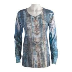 Women's Ojai Clothing Burnout L/S Crewneck Ombre Energy