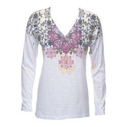 Women's Ojai Clothing Burnout L/S V-Neck Boysenberry Alpine